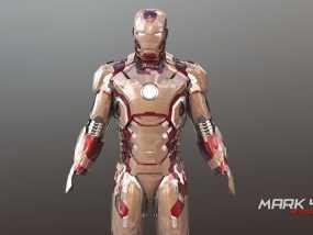 钢铁侠头盔Mk42 3D模型