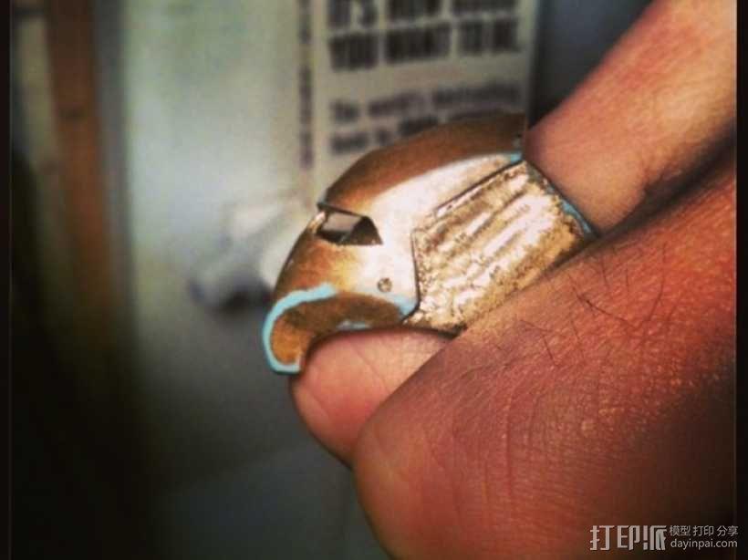 钢铁侠戒指 3D模型  图3