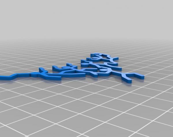 曲棍球员项链吊坠 3D模型  图3