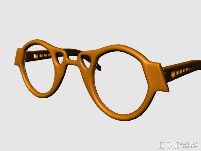 个性眼镜框 3D模型  图1