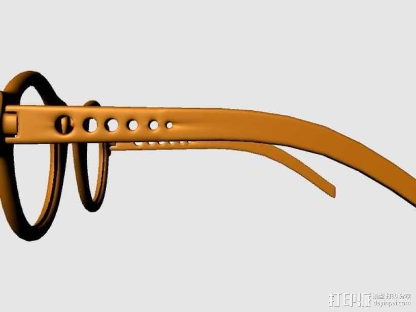 个性眼镜框 3D模型  图2