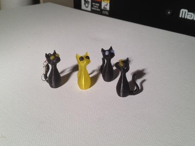 小猫耳环/装饰品 3D模型  图5