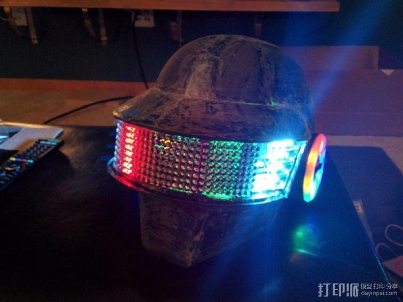 """""""傻瓜朋克""""乐队头盔 3D模型  图1"""