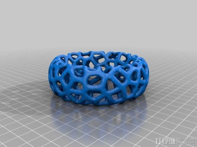 多边形镂空手镯 3D模型  图4