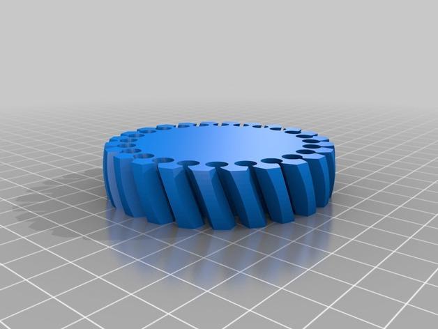 定制化褶饰边手镯 3D模型  图2