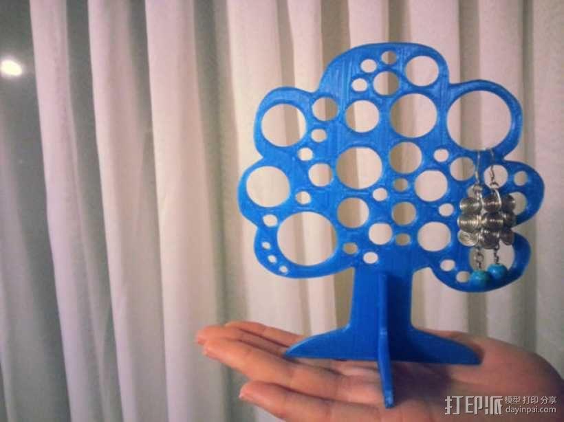 树形珠宝首饰架 3D模型  图1