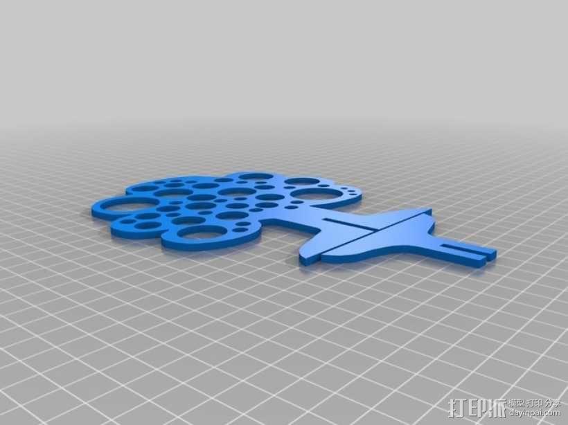 树形珠宝首饰架 3D模型  图2