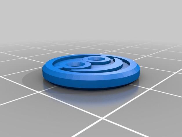 小黄人纽扣 3D模型  图2