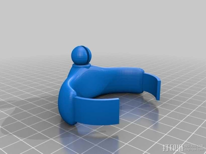可弯曲骨骼手镯 3D模型  图4