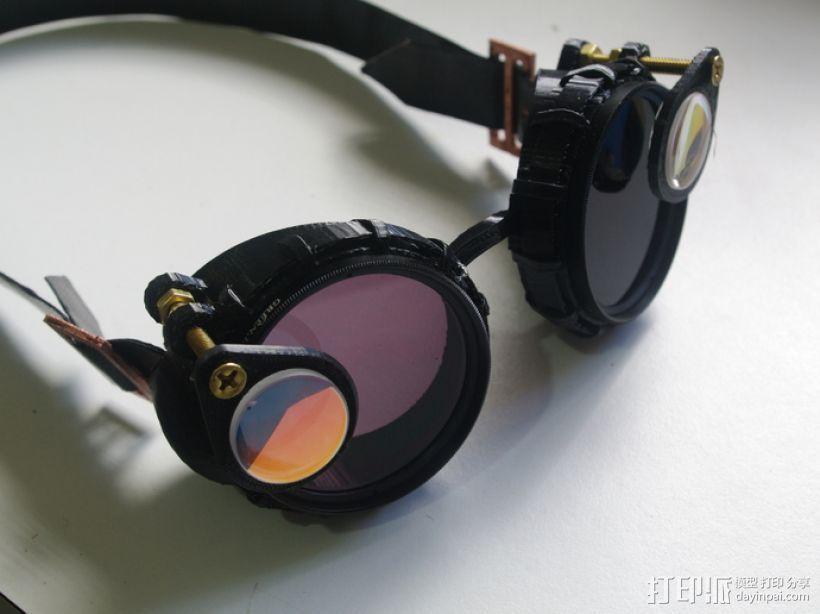 带有滤光镜功能护目镜 3D模型  图1