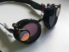 带有滤光镜功能护目镜 3D模型