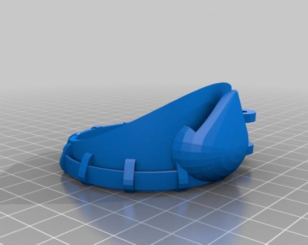带有滤光镜功能护目镜 3D模型  图6