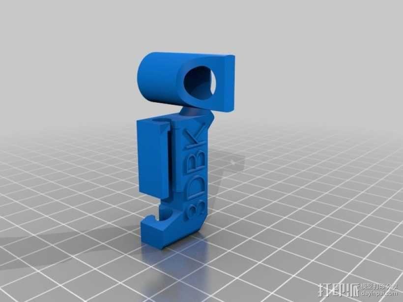 橡皮筋钥匙扣 3D模型  图2