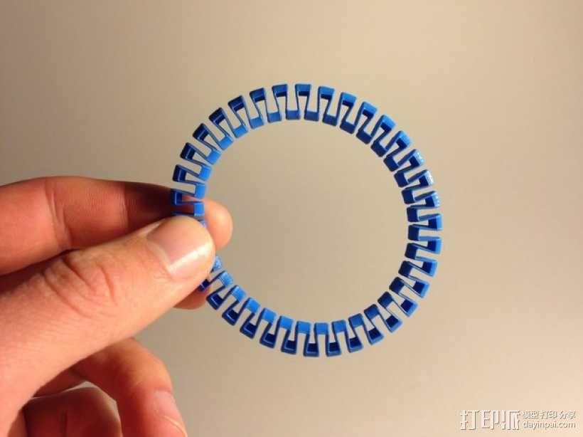 定制化圆形手镯 3D模型  图1