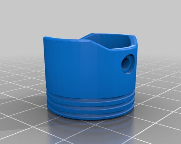活塞钥匙扣 3D模型  图1
