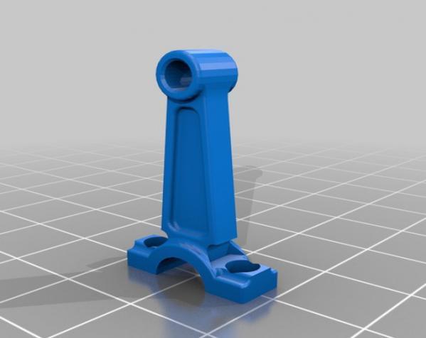 活塞钥匙扣 3D模型  图2