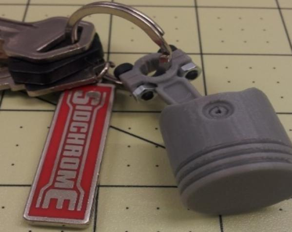 活塞钥匙扣 3D模型  图6