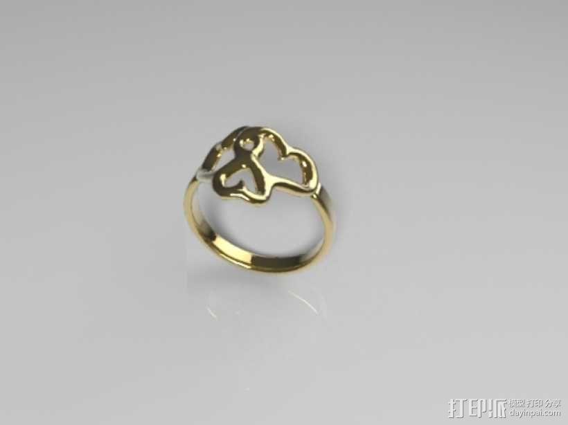 心形戒指 3D模型  图1
