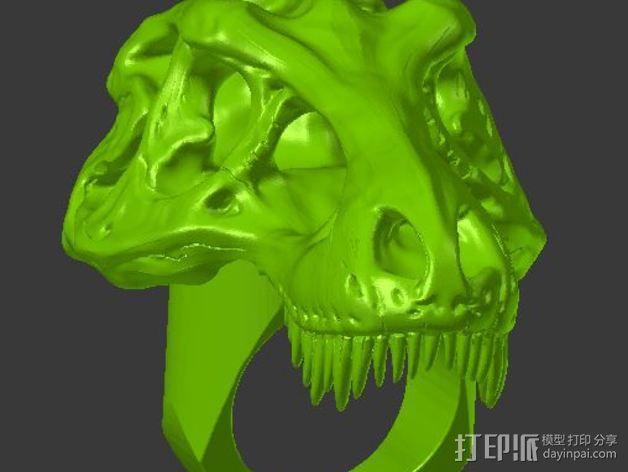 恐龙戒指 3D模型  图2