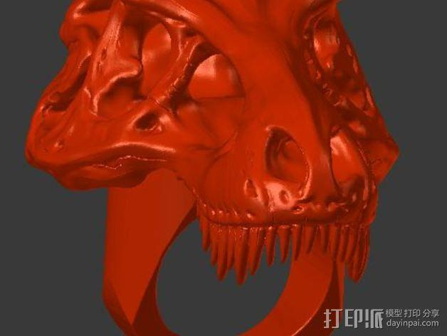 恐龙戒指 3D模型  图5