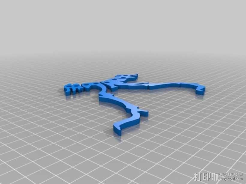 恐龙骨骼项链 3D模型  图5