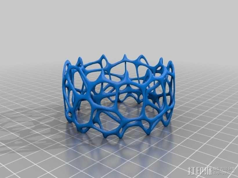 多边形镂空手镯 3D模型  图2
