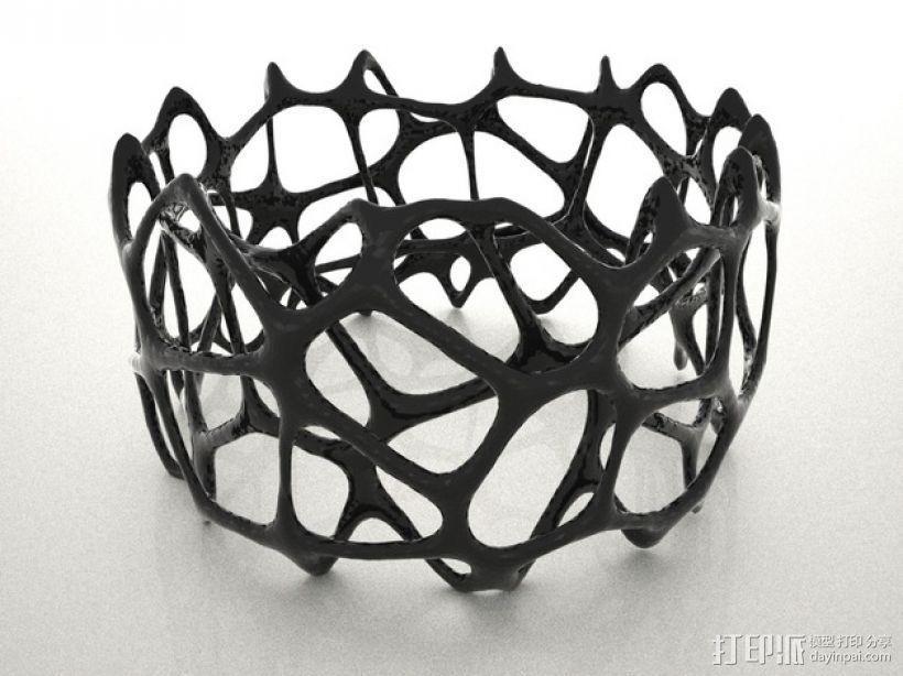多边形镂空手镯 3D模型  图1