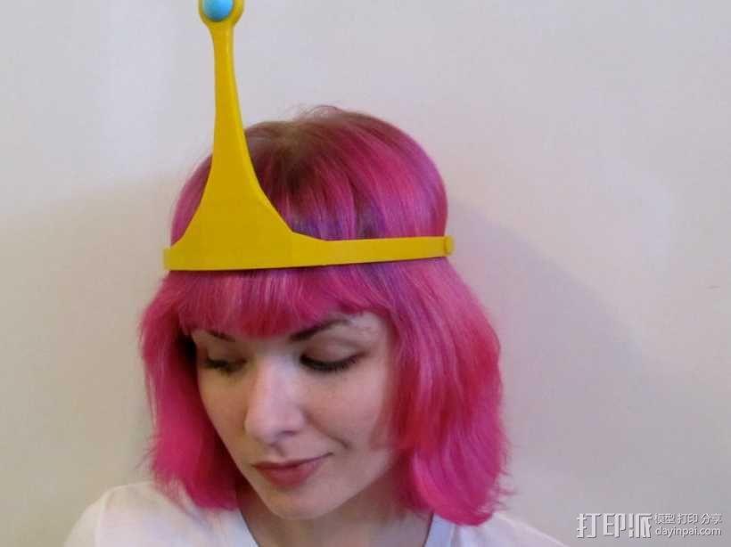 动画《探险时光》泡泡糖公主皇冠 3D模型  图1