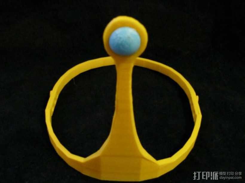 动画《探险时光》泡泡糖公主皇冠 3D模型  图4