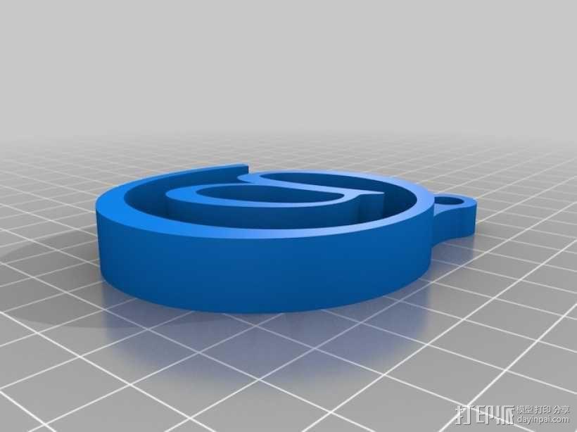 @钥匙扣 3D模型  图1