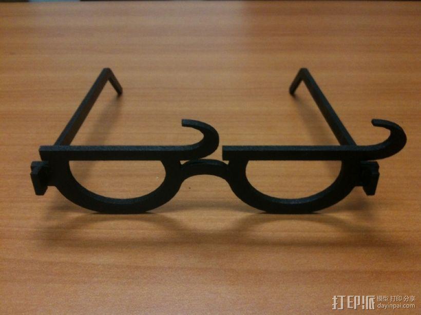 个性化眼镜框 3D模型  图2