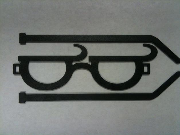 个性化眼镜框 3D模型  图1