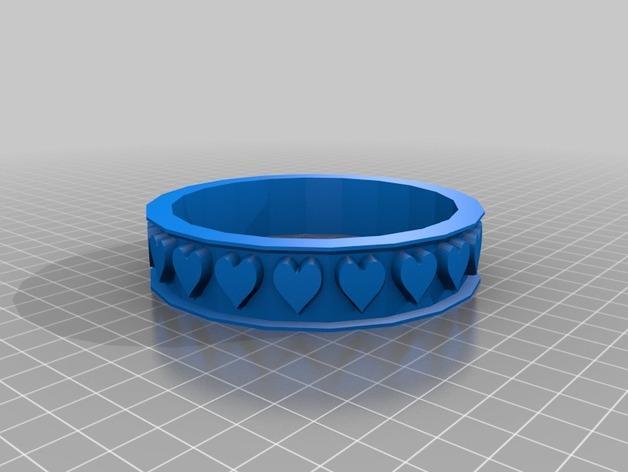 参数化心形戒指 3D模型  图2