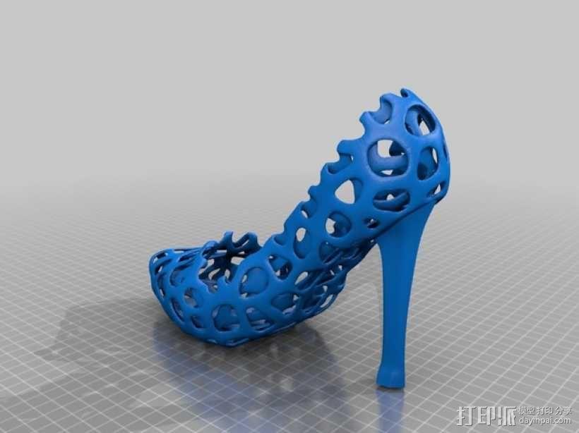 镂空高跟鞋 3D模型  图3