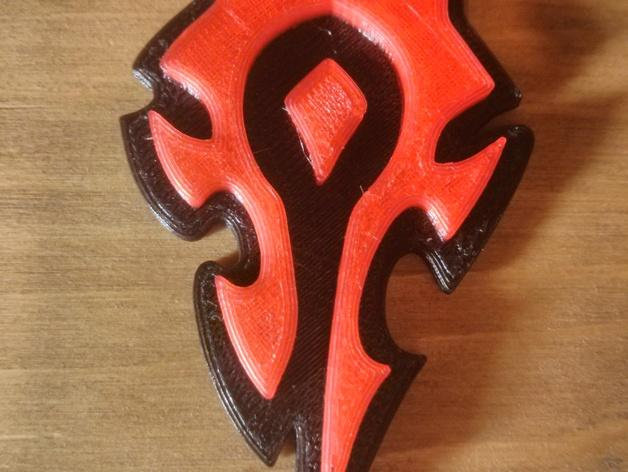 Horde钥匙扣 3D模型  图3