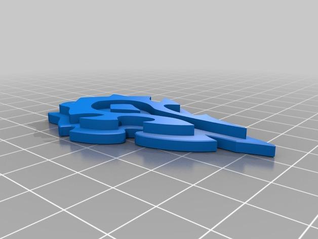 Horde钥匙扣 3D模型  图2