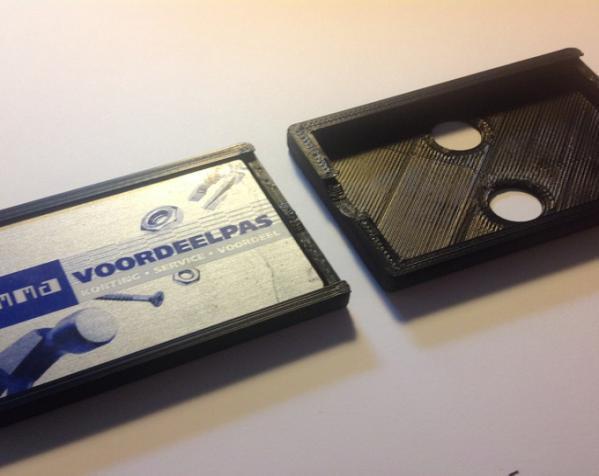 个性化方形钱包盒 3D模型  图4
