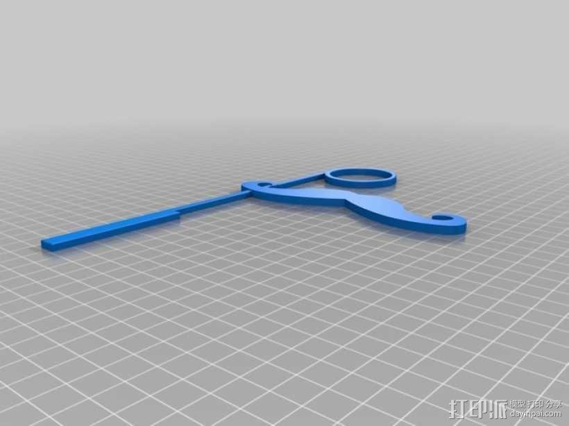 小胡子/单片眼镜 3D模型  图3