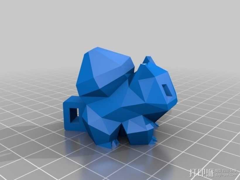妙蛙种子项链 3D模型  图1