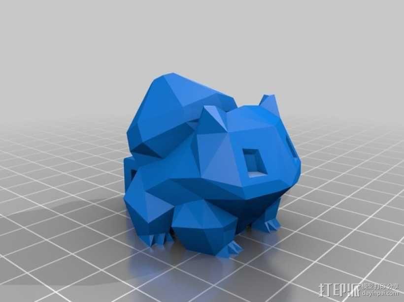 妙蛙种子项链 3D模型  图2