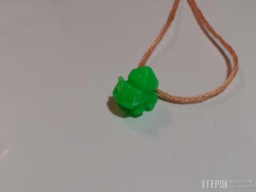 妙蛙种子项链 3D模型  图4