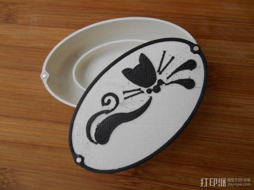 黑猫椭圆小盒 3D模型  图1
