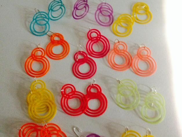 个性化耳环 3D模型  图1