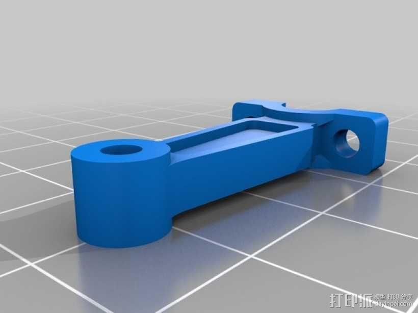 连杆活塞钥匙扣 3D模型  图6
