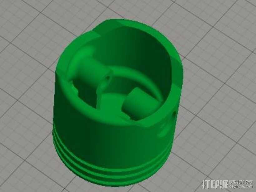 连杆活塞钥匙扣 3D模型  图4