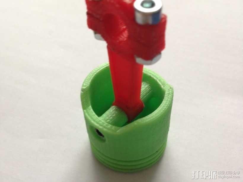 连杆活塞钥匙扣 3D模型  图2