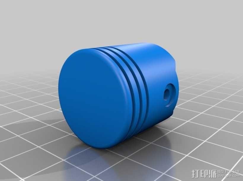 连杆活塞钥匙扣 3D模型  图8