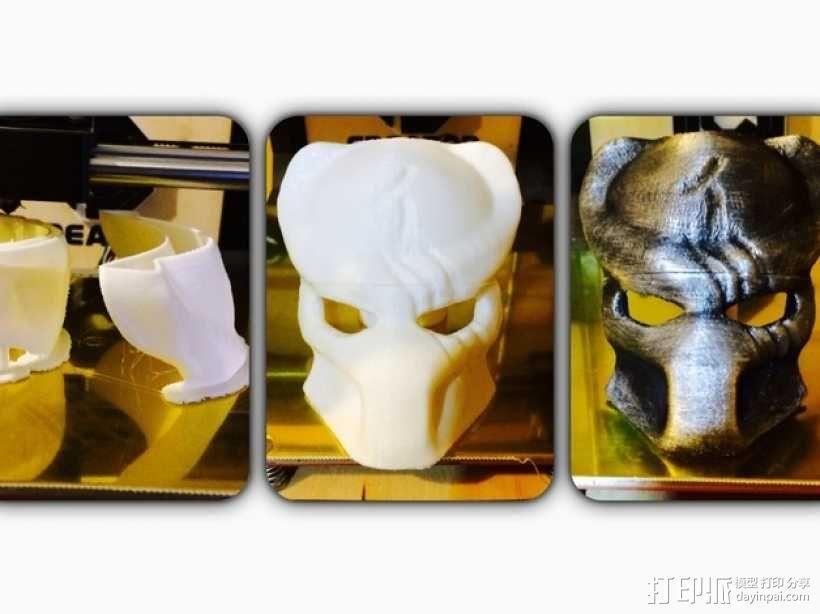 电影《铁血战士》面具 3D模型  图2