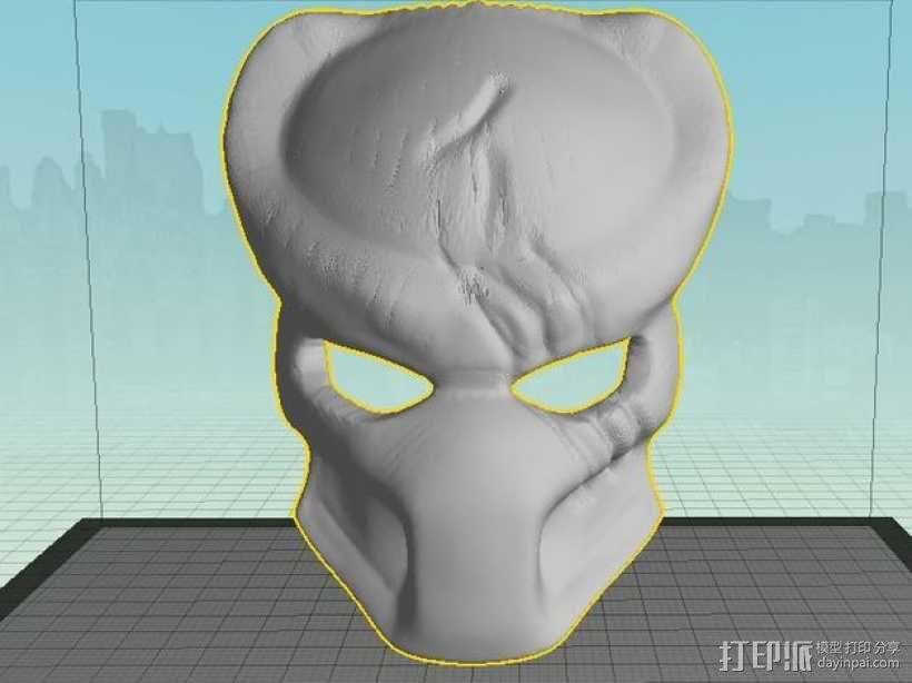 电影《铁血战士》面具 3D模型  图3