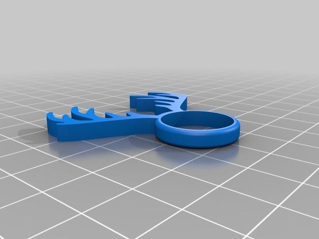 麋鹿戒指 3D模型  图4